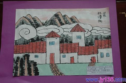 幼儿园大班六一儿童节幼儿绘画作品展