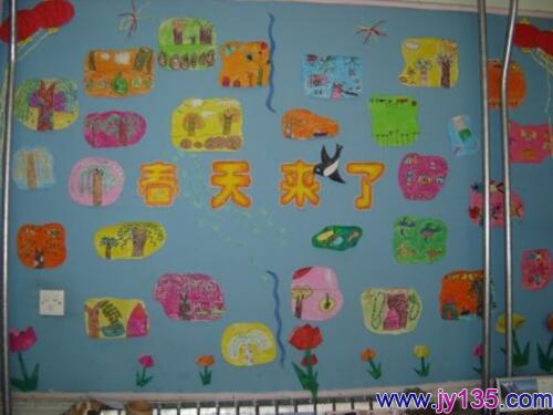 春天的主题墙设计,幼儿园春天主题墙设计