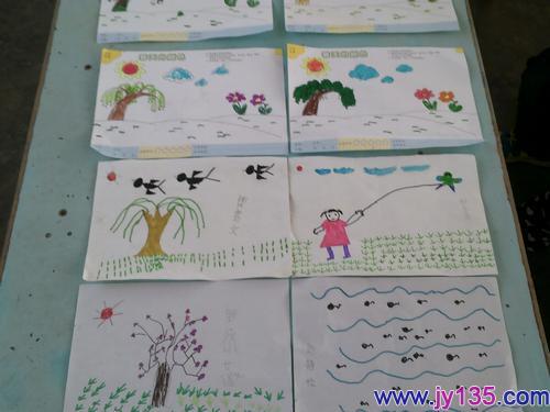 幼儿画春天图片