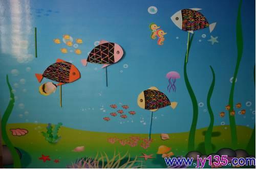 幼儿刮画海底世界 刮腊画 海底世界 中班幼儿画海底世界
