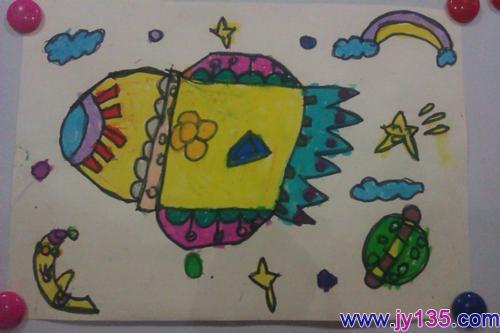 小班幼儿绘画作品李欣霞(4岁)