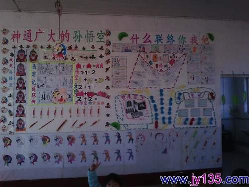 侯镇刘官幼儿园开展室内主题环境创设活动