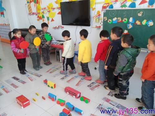 羊口镇中心幼儿园:备课交通安全小成绩汇报_的组长明星开展总结活动图片