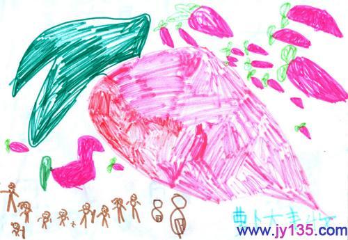 中班美术绘画教案萝卜