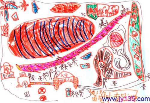 左昊祺(5岁)画作(大班)_幼儿园幼儿绘画作品