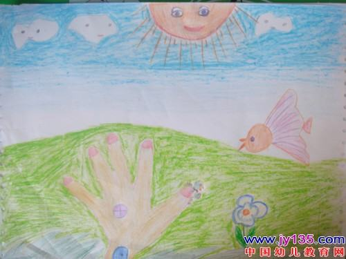 五岁小朋友绘画作品