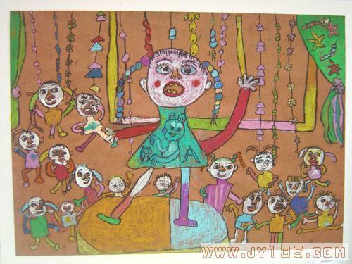 蓝蜗牛幼儿园幼儿绘画作品