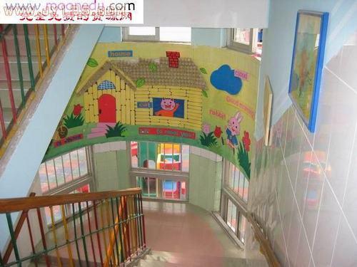 幼儿园楼梯与阁楼布置-楼梯装饰二图片