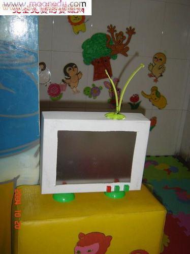 幼儿园区角娃娃家布置图片-电视机