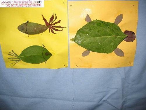 幼儿园手工树叶粘贴_幼儿园剪贴画-树叶贴画——秋天