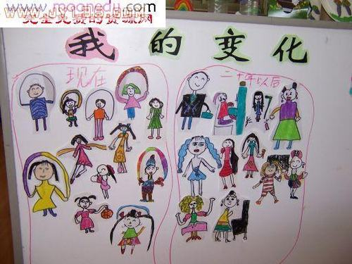 幼儿园剪贴画-我的变化