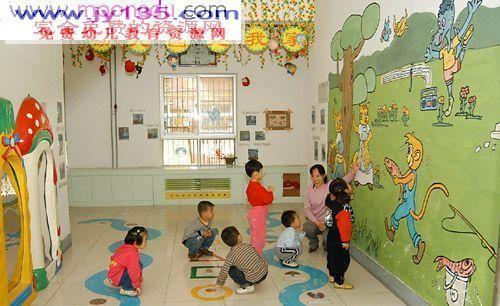 幼儿园中班园所走廊与墙饰布置图_幼儿园中班教室布置
