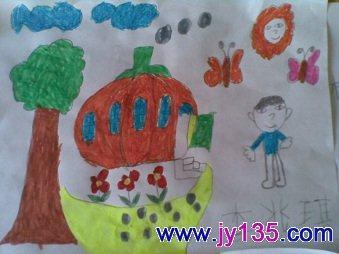 画画未来的房子 大班 幼儿园幼儿绘画作品 幼儿园幼儿绘画; 画画未来图片