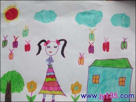 关于春天的画,幼儿绘画春天6