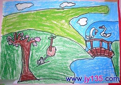 关于春天的画,幼儿绘画春天组图
