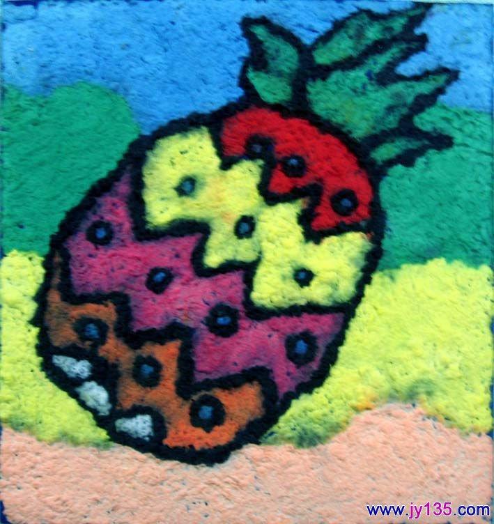幼儿园纸浆画作品11