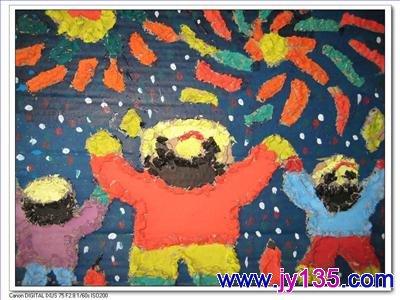 幼儿园小班剪纸图片_幼儿园纸浆画作品欣赏_幼儿绘画美工图片