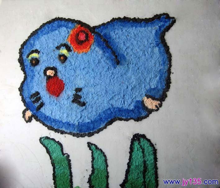 幼儿园纸浆画作品欣赏