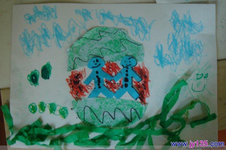 幼儿园中班剪贴画——西瓜(5岁)