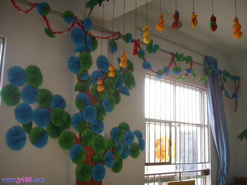 非常实用的幼儿园墙饰图